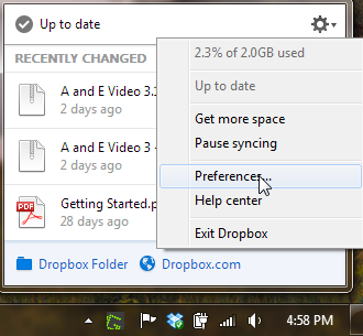 Dropbox Notifications