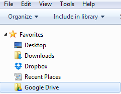 Google Drive Favorite