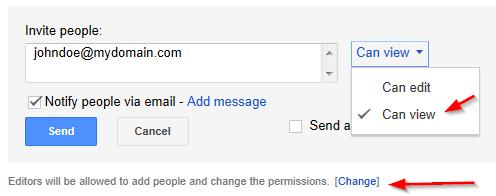 Google Drive Invite User