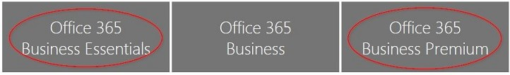 Office 365 Business Plan Titles